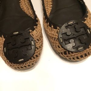 Tory Burch Shoes - Tory Burch Rory Crochet  Leather Flat Size 7